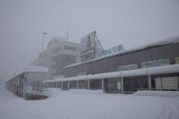 Aomori station in winter