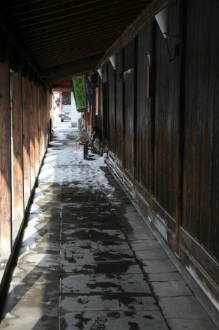 黒石の古い町並み