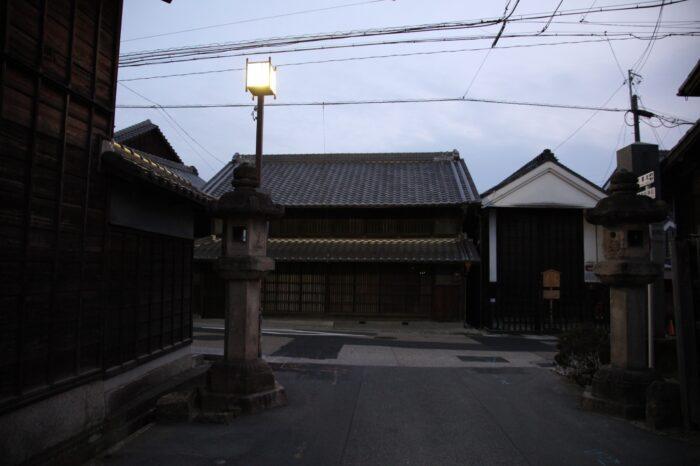 日本の夕方の風景「愛知 有松」