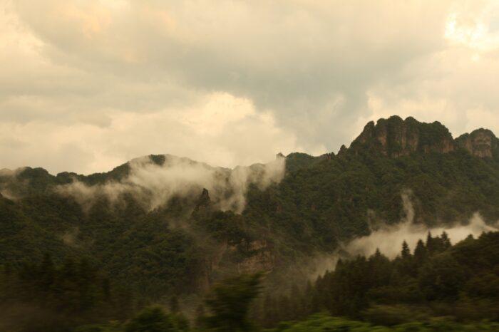 日本の夕方の風景「群馬 藤岡」