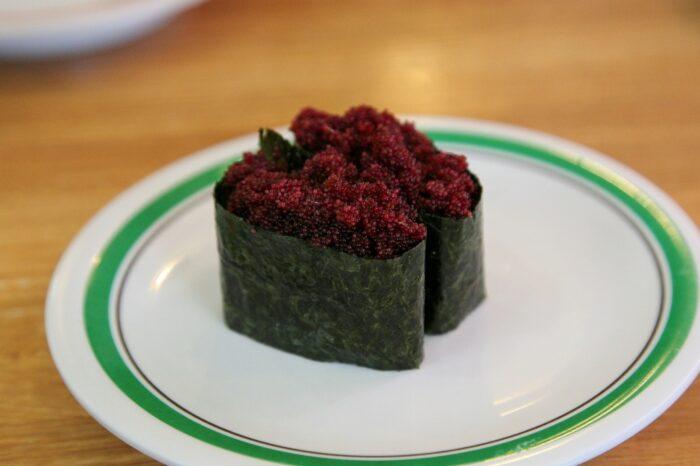 寿司(カニの外子の軍艦)