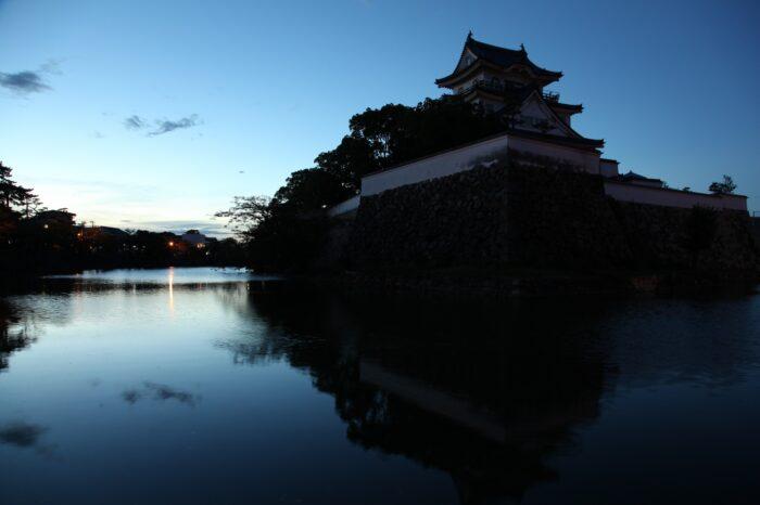 日本の夕方の風景「大阪 岸和田」