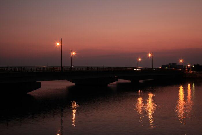 日本の夕方の風景「徳島 鳴門」