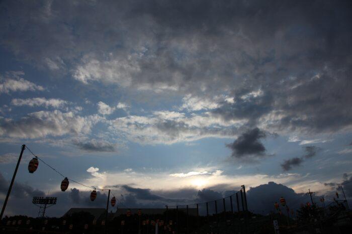 日本の夕方の風景「愛知 豊川」