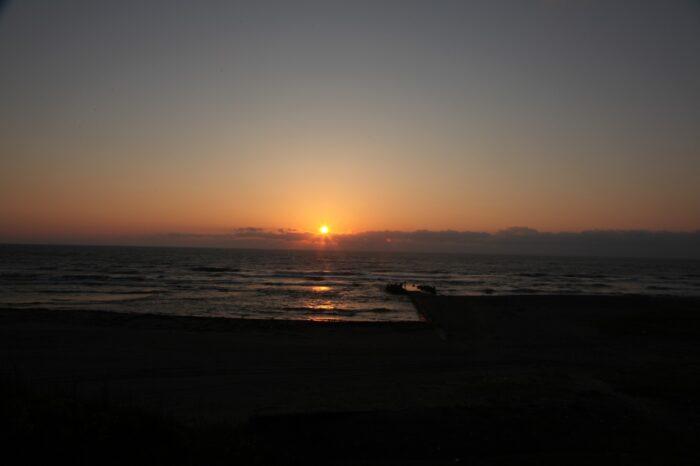 日本の夕方の風景「山形 庄内」