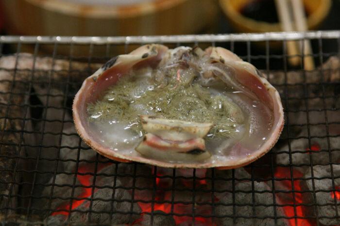 カニの甲羅焼き(ズワイガニ)