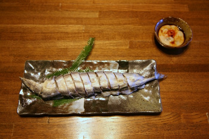 秋刀魚のなれずしと30年物のなれずし