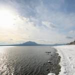 冬の支笏湖