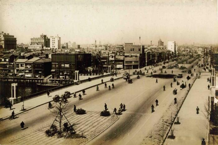 昭和通リ江戸橋附近