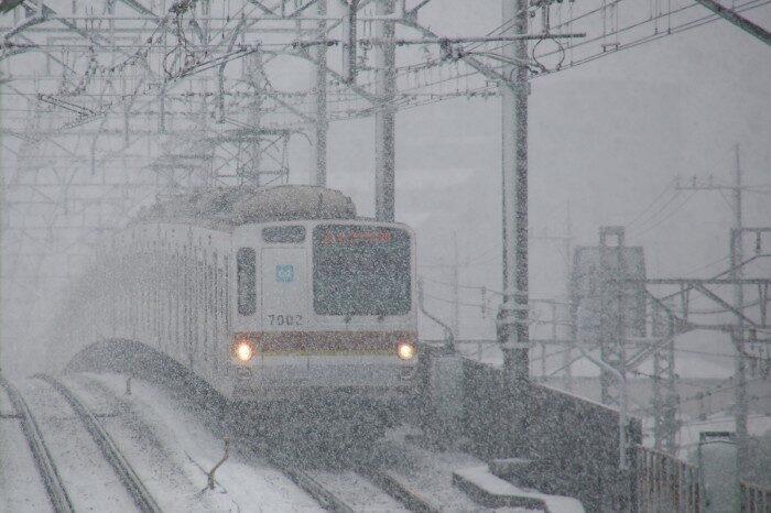 雪の中の有楽町線
