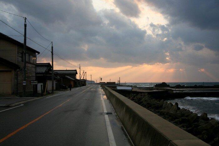 黒島町の薄明光線
