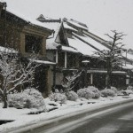 雪の海野宿
