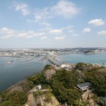 早春の江の島シーキャンドルから見る風景