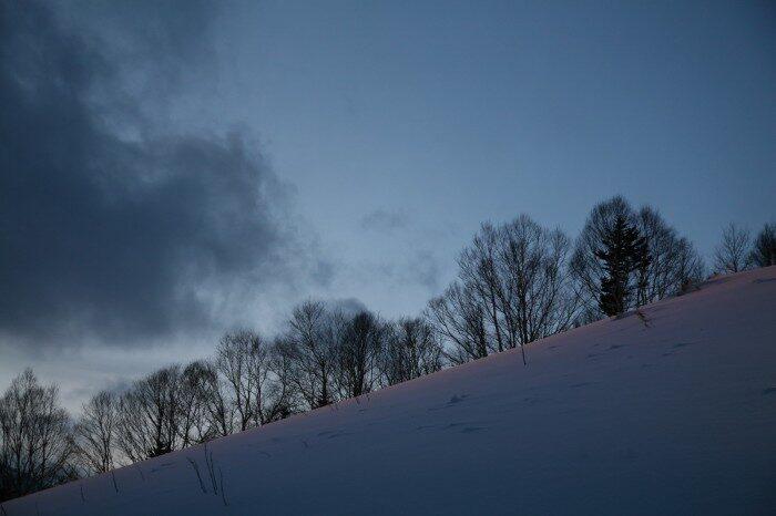 トマム山の夕暮れ