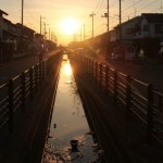 行田の夕日
