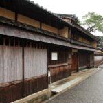 松阪市 本居宣長旧居宅跡、長谷川邸のある魚町通り