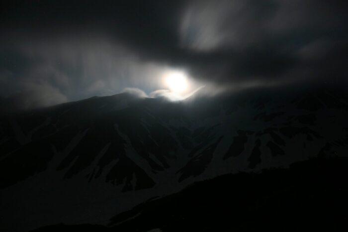 立山の夜の風景