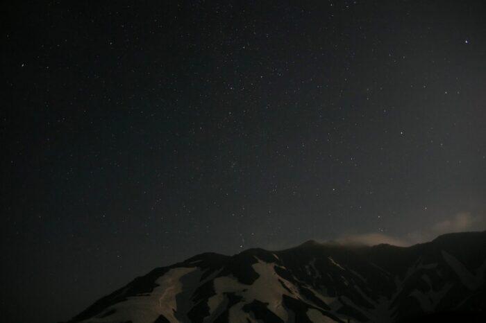 夜の立山の風景
