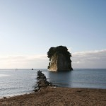 能登半島の軍艦島 見附島