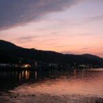 諏訪湖 夕暮れ