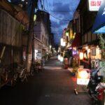 東京・下町 夕暮れの根津の風景