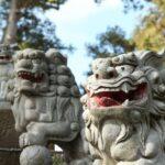香取神社の三連狛犬
