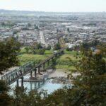 鳥羽山公園から見る天竜浜名湖線
