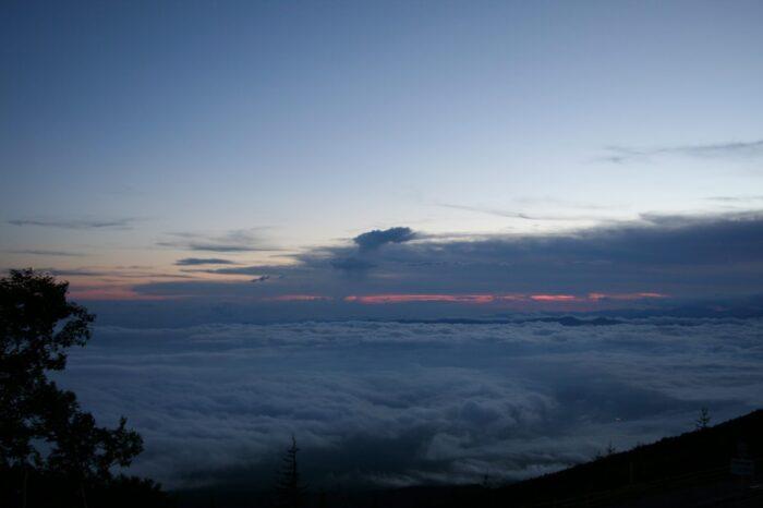 富士山五合目から見る雲海