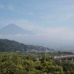 富士川サービスエリアから見る夏の富士山