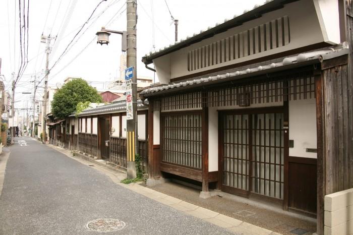 奈良町の古い町並み