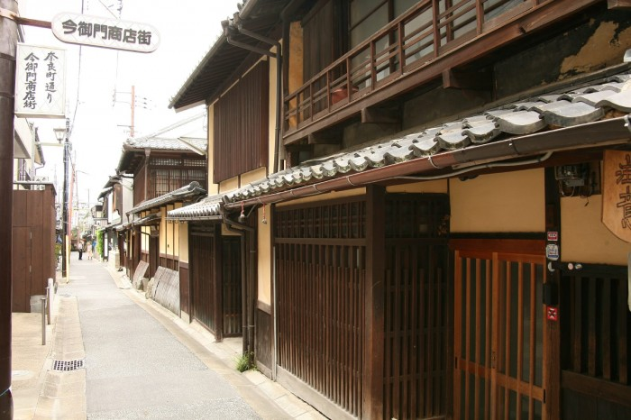 奈良市今御門町の古い町並み