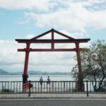 琵琶湖畔の日吉大社の山王鳥居