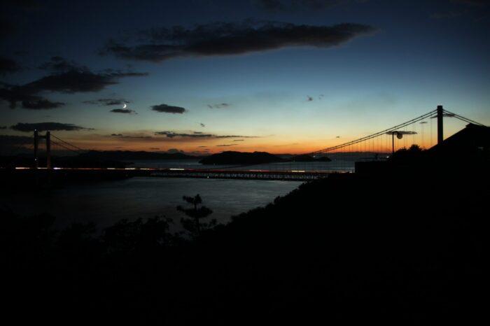 鷲羽山の夕暮れ