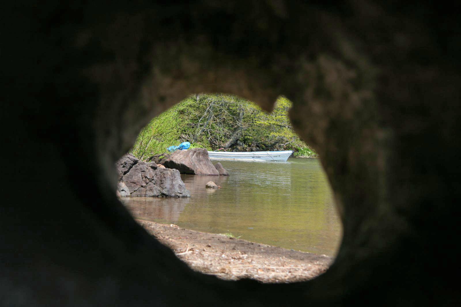 倶多楽湖の風景