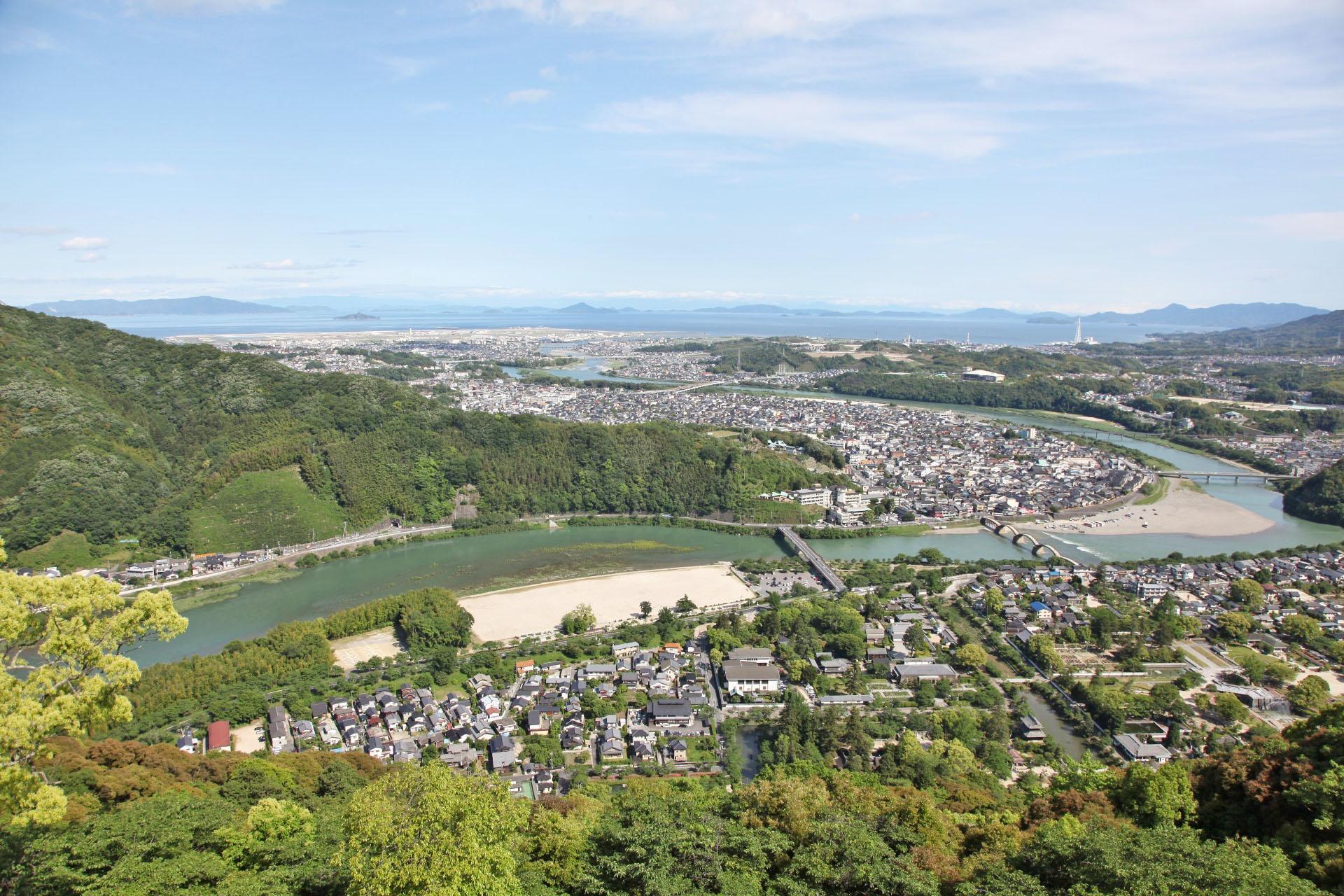 岩国城からの眺め
