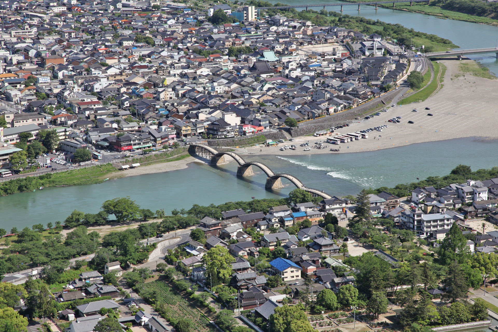 岩国城から見る錦帯橋