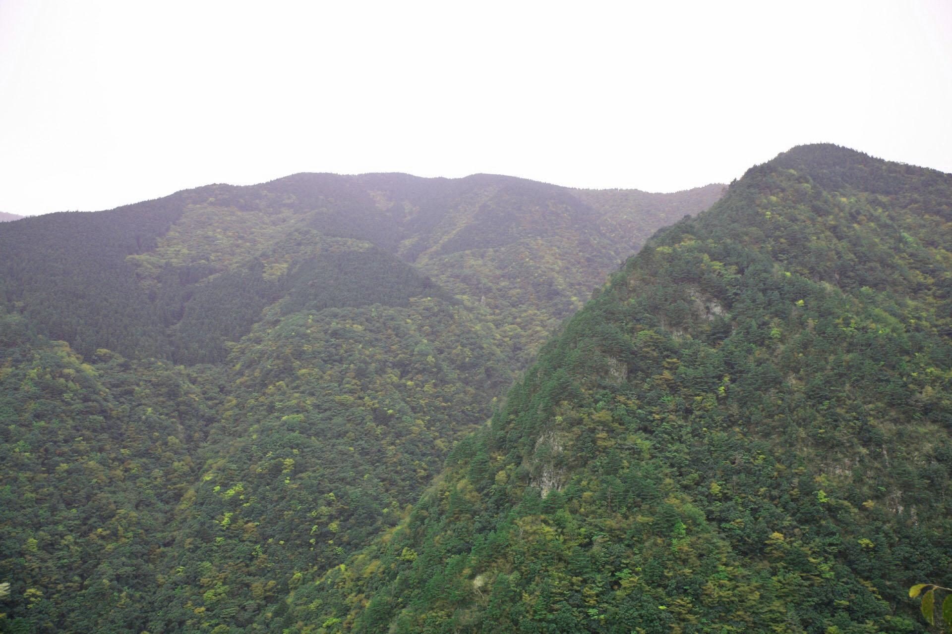 祖谷の山々