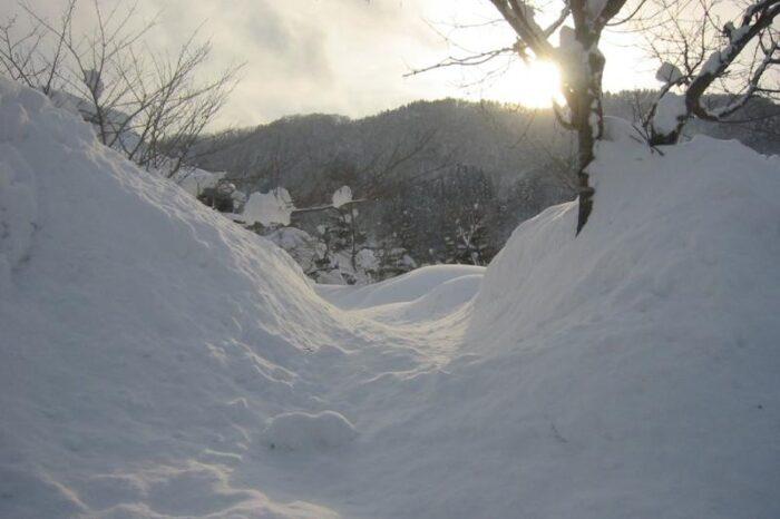 日本各地の冬の風景「青森県黒石市」