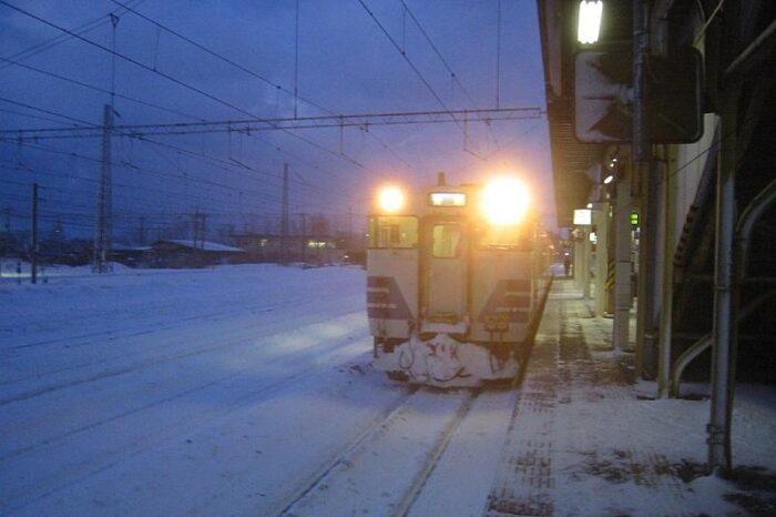 日本各地の冬の風景「五能線」