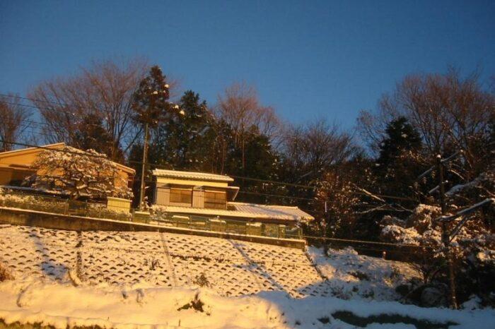 日本各地の冬の風景「早朝の奥多摩」