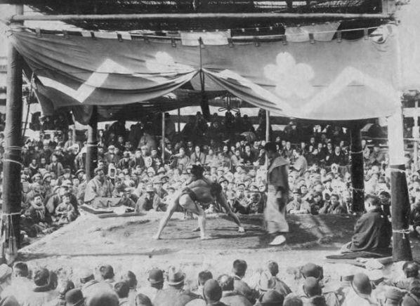 1890年代の取り組み風景(撮影者不詳)