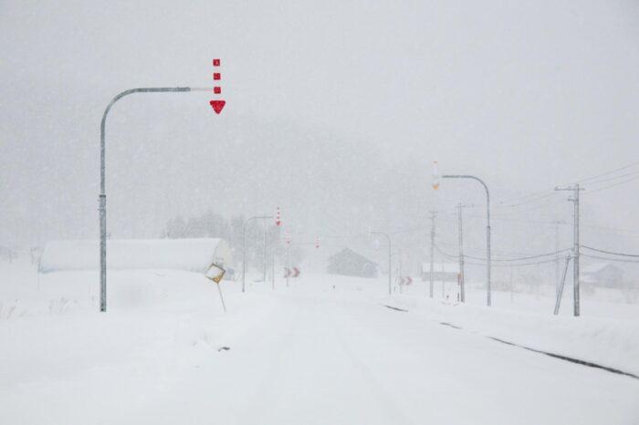 冬の北海道 三月の国道452号線 三笠市~芦別市