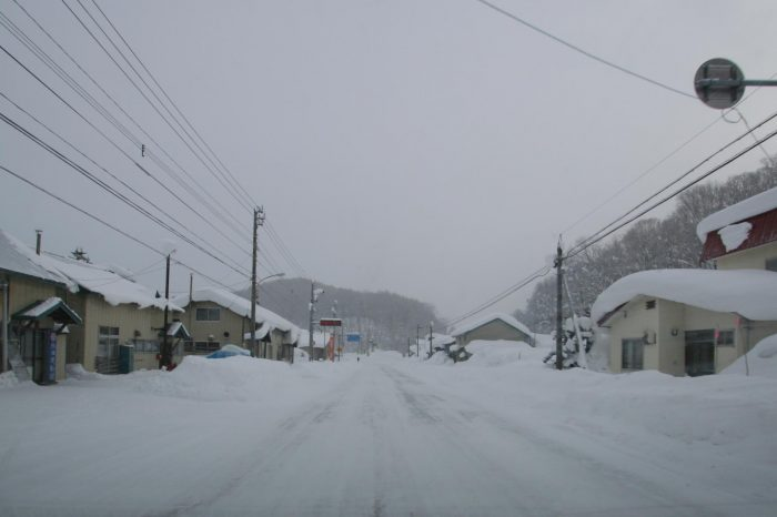 冬の北海道  二月の中頓別の風景