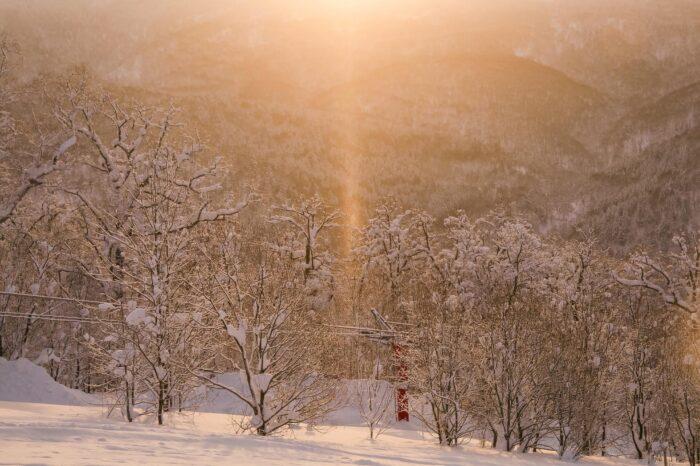 冬の北海道  二月の名寄の風景