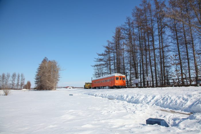 冬の帯広の風景