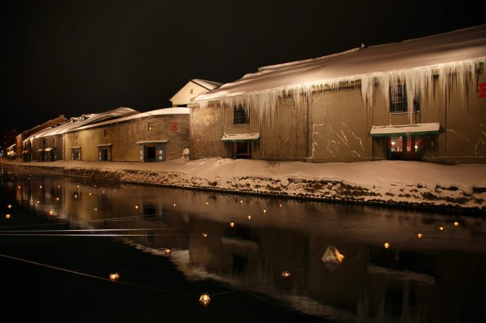 冬の北海道 二月の小樽の風景
