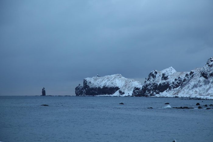 冬の積丹の風景