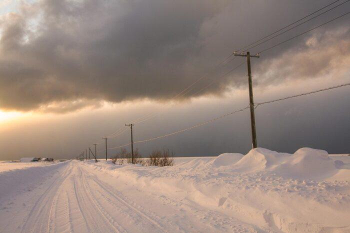 冬の北海道 天塩の風景