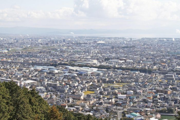 岩本山公園から見る富士の町並み