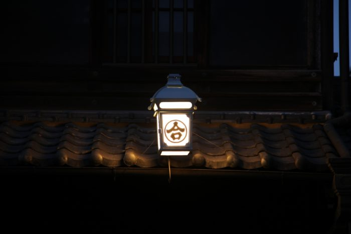 有松の夜の風景